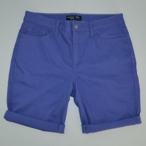 Riders by Lee Mid Rise purple bermuda shorts